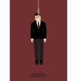 Hanged businessman vector image vector image