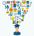 Education Flat Colorful Icons vector image