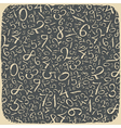numbers on blackboard vector image