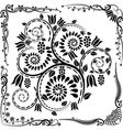 floral corners and ornaments vector image