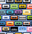 cassettes seamless texture vector image