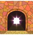 Tunnel through the mountain vector image vector image
