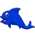 funny dolphin cartoon for you design vector image vector image