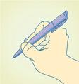 Artist draw vector image