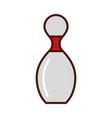 brightly bowling pin cartoon vector image