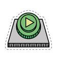 cartoon button play game image vector image