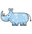 cartoon rhinoceros vector image