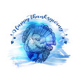hand drawn sketch turkey natural turkey vector image