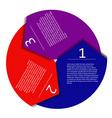 Infographic arrow vector image