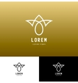monogram icon and logo design template in vector image