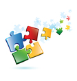 Puzzle piecies background vector image