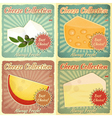 Vintage Set of Cheese Labels vector image vector image
