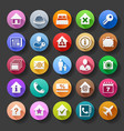 flat style hotel icons vector image