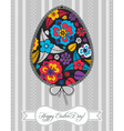 Floral composition in easter egg vector image