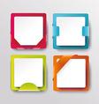 modern banners or frames element design vector image