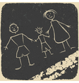 happy family doodle vector image vector image