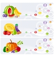 Food and drink icon set for healthy eating Fruits vector image