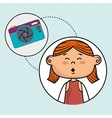 girl camera photo images vector image