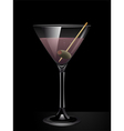 Martini Cocktail Background vector image