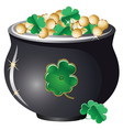 Pot of gold2 vector image