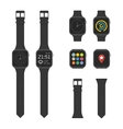 Set of smart watches vector image vector image