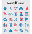 Medical stickers - part 1 vector image vector image