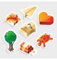 Miscellaneous sticker icon set vector image vector image