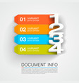 document info banner vector image