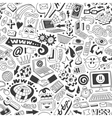 web doodles seamless background vector image