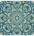 Beautiful blue arabesque lace pattern background vector image