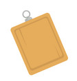 wooden board with hanger vector image