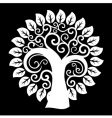 swirly tree vector image vector image