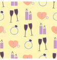 seamless background with wedding equipment vector image