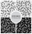 Seamless BW Optical Pattern Collection vector image