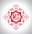 Christmas festive Card monograms style Lineart vector image