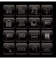 line real estate icons vector image vector image