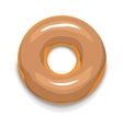 Glazed donut icon cartoon style vector image