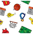 Basketball Elements Pattern vector image