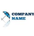 Business abstract logo Umbrella sign icon logotype vector image