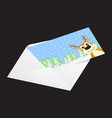 christmas card in an envelope vector image