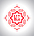 Christmas festive Card monograms style Lineart vector image