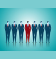 leadership of business team vector image