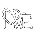 Love design with heart vector image