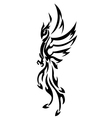 phoenix tattoo tribal vector image