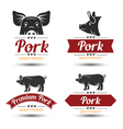 Pork label 2 vector image