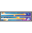 Set of space banners design vector image
