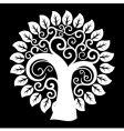 swirly tree vector image