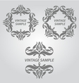 Vintage elements of design vector image