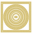 set frieze with vintage golden Greek ornament vector image