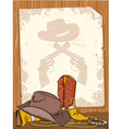 Cowboy background vector image